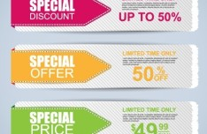 Nice Clean Special Offer Paper Label Set Vector