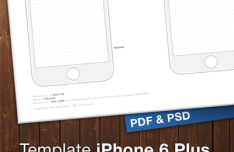 iPhone 6 & Plus Template (PSD+PDF)