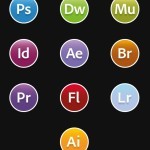 Flat and Round OS X Yosemite Adobe CC Icons