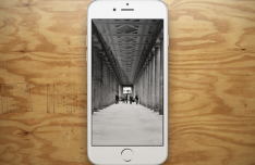 White iPhone 6 Showcase Template PSD