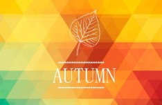 Abstract Autumn Gradient Color Triangles Background Vector