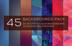 45 Polygon & Gradient Blurred Backgrounds Pack