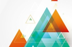 Colored Triangles Background Vector