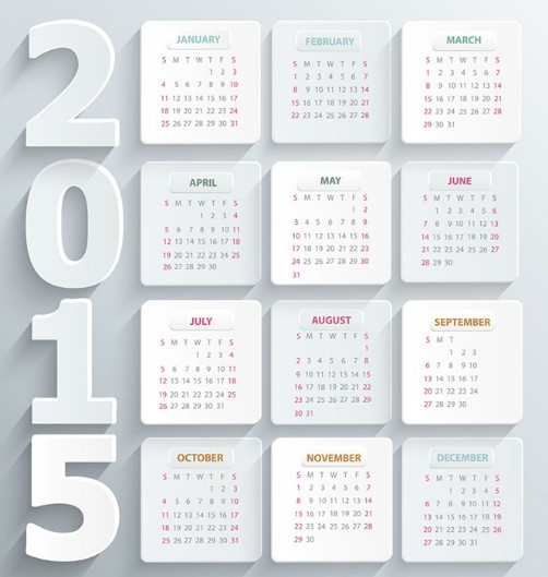 نتيجة عام 2015 ، صور نتائج التقويم الميلادي calendar 2015