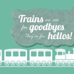 Trains Travel Vector Illustration