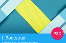 Android L UI Kit PSD