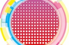 Abstract Colored Circles Background