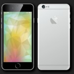 iPhone 6 Mockup Vector + 6 Backgrounds