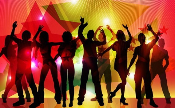 Party Silhouette Vector Free Night Party Silhouette Vector