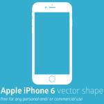 Print-ready Apple iPhone 6 Vector Shape