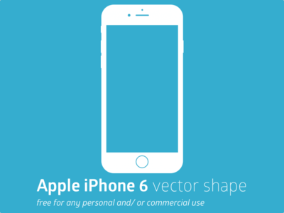 Free Print Ready Apple Iphone 6 Vector Shape Titanui