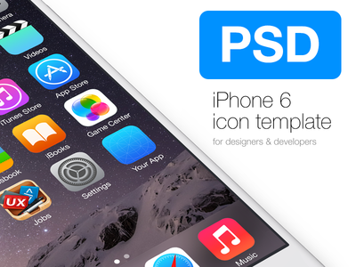 Free ios 8 icon template for iphone 6 psd titanui for Ios splash screen template psd