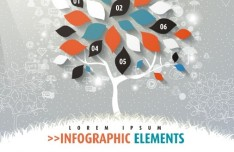 Colorful Infographic Options Tree Vector