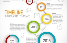 Creative Business Timeline Infographic Template Vector