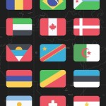 World Country Flags PSD