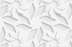 3D White Flowers Pattern Vector