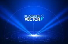 Space Laser Vector Illustration