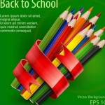 Back To School Colorful Pencils Vector