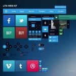 Lite Flat Web UI Kit PSD