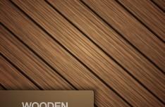 Brown Wooden Texture Vector