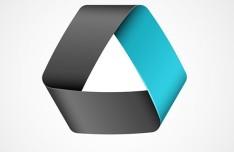 Blue Ribbon Logo Template Vector