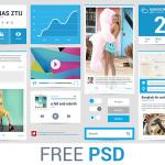 Fresh Summer UI Kit PSD