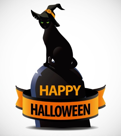 black cat templates for halloween - free halloween witch cat vector titanui