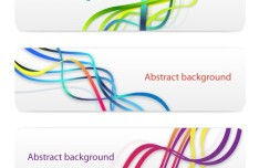 Abstract Spiral Lines Banners Vector