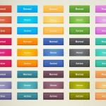 Cool Flat Action Buttons PSD