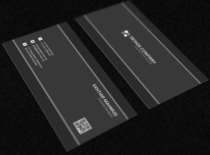 White Sleek Information Card Design