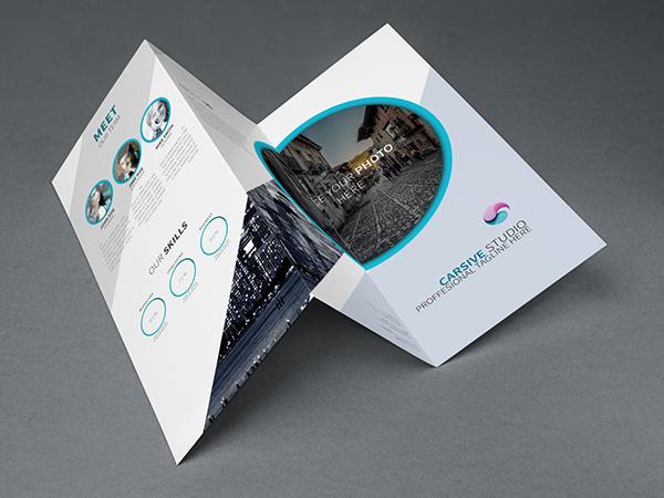 Free Creative Trifold Brochure Template PSD TitanUI - Creative brochure templates