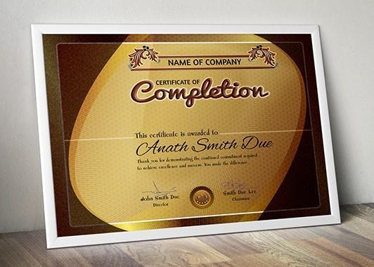 Free Certificate Frame PSD - TitanUI
