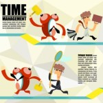 Cartoon Time Management Vector Illustration