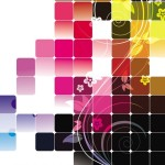 Colorful Abstract Blocks Background Vector 01