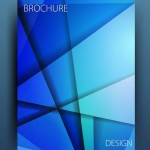 Blue Polygon Brochure Design Vector