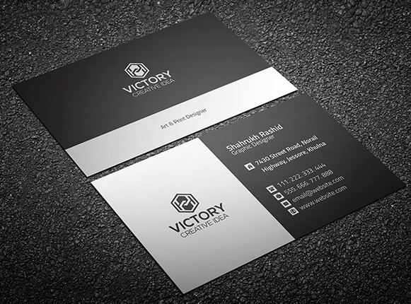 Free Graiht & Corporate Business Card Template PSD TitanUI