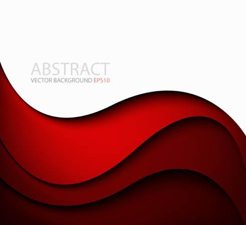 Red Abstract Background Vector Free Red Abstract Waves Background