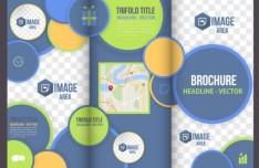 Business Tri-fold Brochure Template Vector