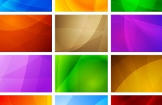 Colorful Waves Background Set Vector