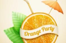 Orange Party Vector Illustration