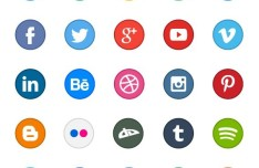 65 Circle Application Icons
