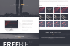 Spirit8 – Digital Agency One Page Web Template PSD