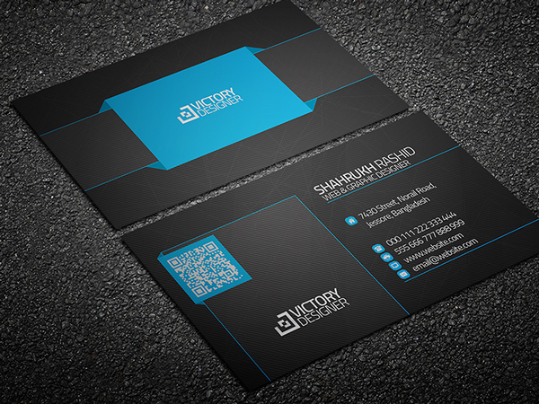Free Code & Corporate Business Card Template PSD TitanUI