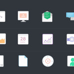 12 Nice Flat Icons Vector PSD