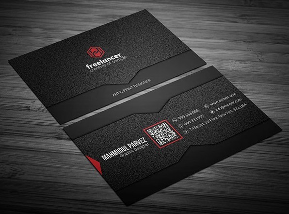 Black business card template fashion black corporate business card mockup template with noise accmission