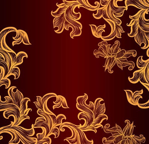 Flower Pattern Png Gold Flower Pattern Png Img