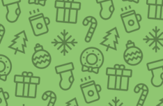 8 Christmas Line Icons Vector