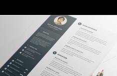Dark Resume Template PSD
