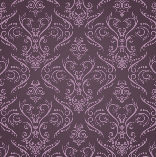 Purple vintage floral pattern - photo#7