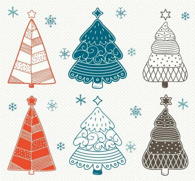 Free Simple Christmas Tree Design Vector - TitanUI